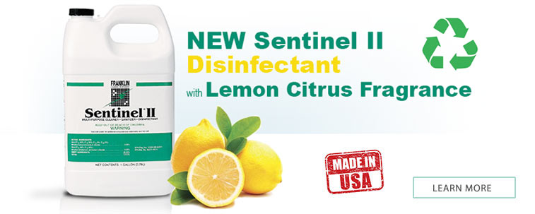 Sentinel II Disinfectant, Citrus Scent. One-step disinfectant