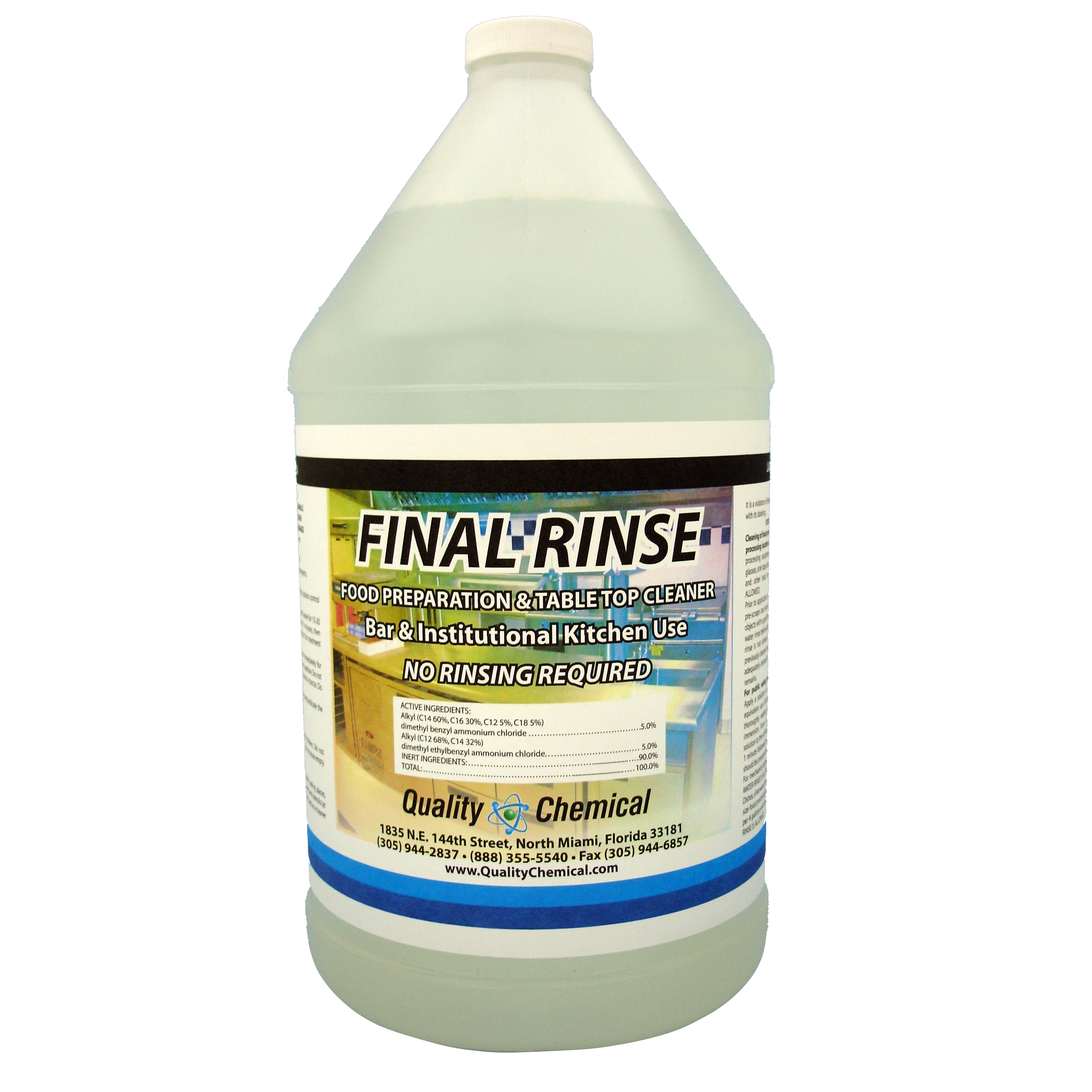 Final Rinse Food Prep Cleaning Solution