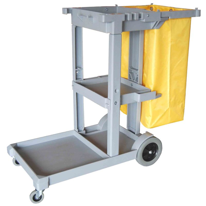 Janitor Cart with Vinyl Bag