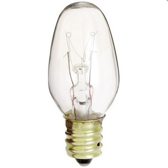 Candelabra Base Incandescent bulb - 7watt Clear E12