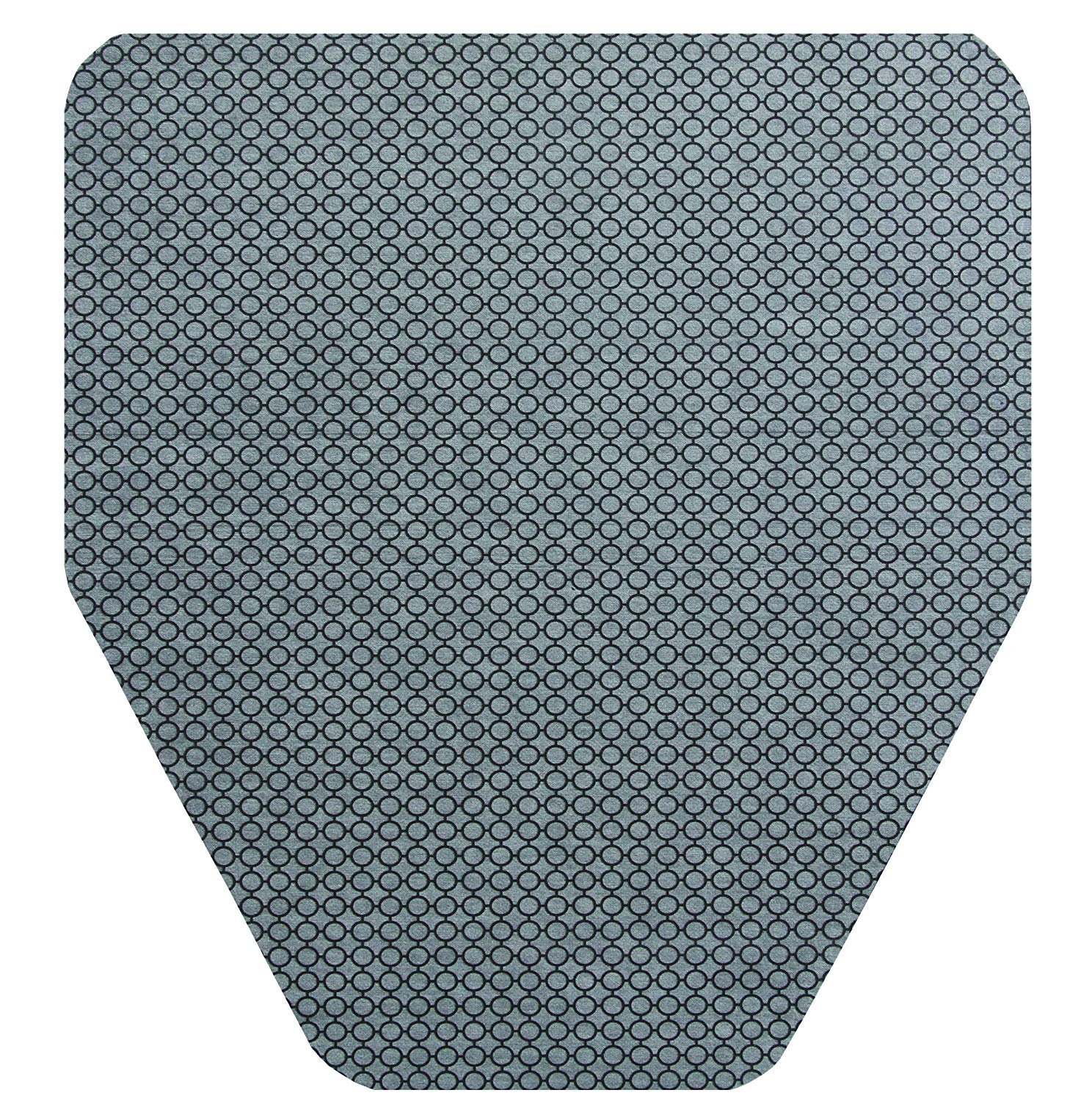 Urinal Mat - Polyester, Black/Grey