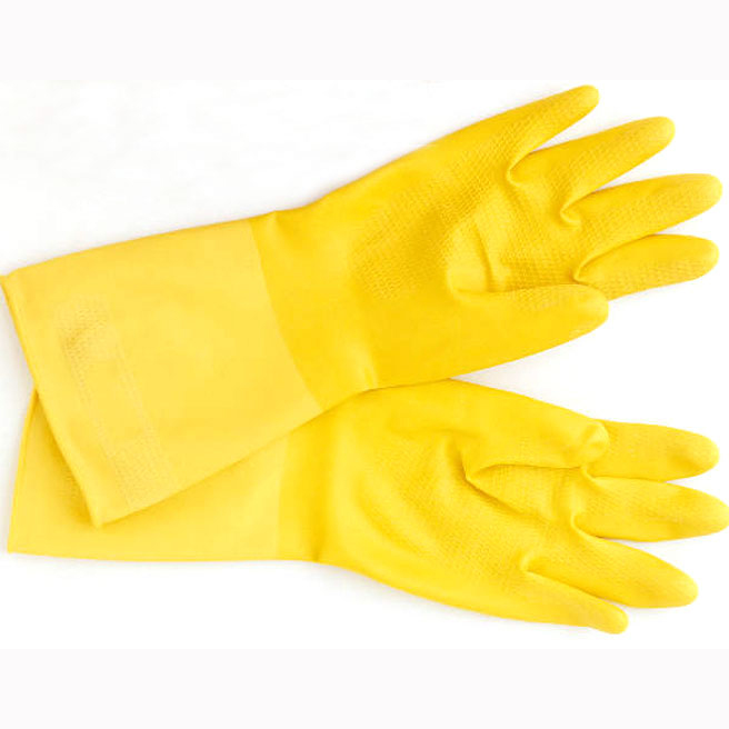 Gloves - Yellow Flock Lined